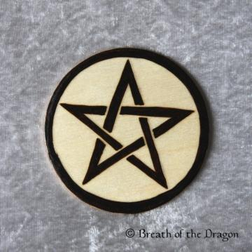 Simple Pentacle round magnet