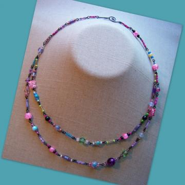 Black Fiesta Double Necklace