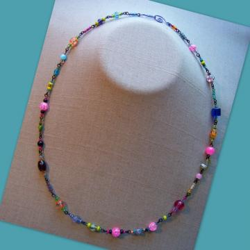 Black Fiesta  Necklace