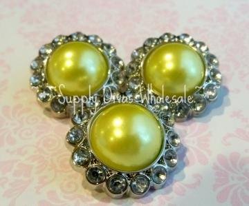 Yellow Pearl w/clear stones