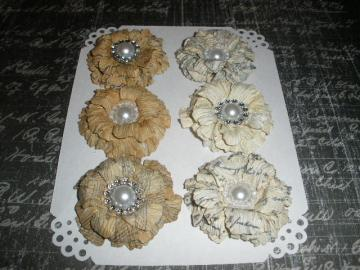 Vintage Sweet Sugar Blossoms-Handmade Paper Flowers