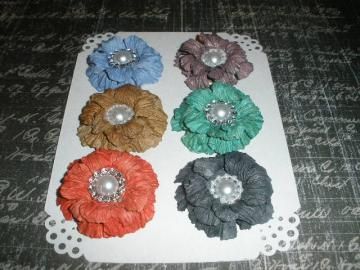 Dark Sweet Sugar Blossoms-Handmade Paper Flowers