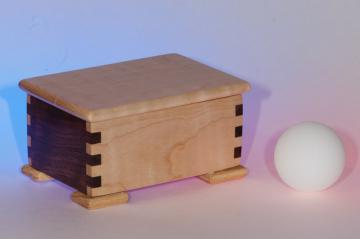 Small Gift Box, Curly Maple and Walnut (#016)