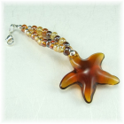 Starfish Beaded Purse Charm Zipper Pull