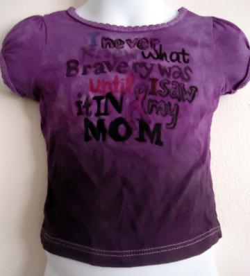 Cancer Survivor Toddler Shirt Tied Dyed Size 3T
