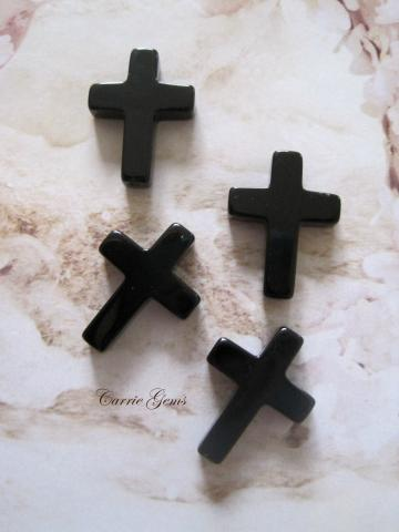 Onyx Cross, 20mmx15mm, 2pcs