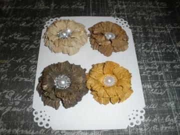 Brown Sweet Sugar Blossoms-Handmade Paper Flowers
