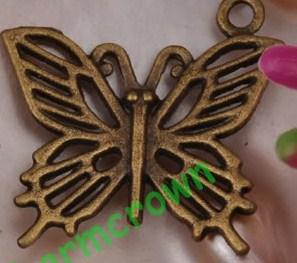 3 bronze butter charms