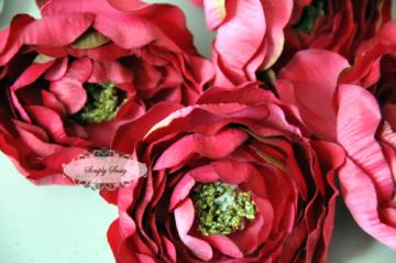 - SaSSY Steal - 2.5in  Hot Pink Ruffled Ranunculus - Limited Time Special