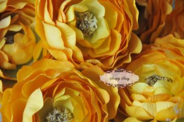 - SaSSY Steal - 2.5in Yellow Ruffle Ranunculus - Limited Time Special