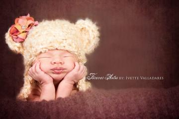 Crochet Newborn Baby Bear Hat,  Photography Bear Beanie, Bear Hat Photo Prop, Newborn Bear Hat, Tan Bear Hat