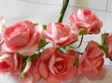 Pink mini Roses set of 24