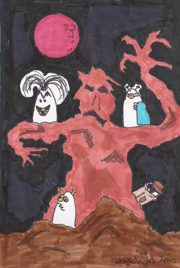 .At the Mountains of Weirdness - Original Weirdsville Cartoon Art