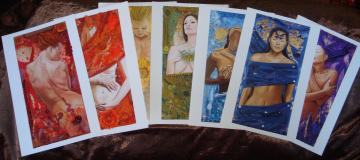 Goddess Chakra Greeting Cards - Set of 7