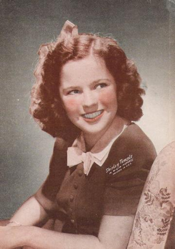 Vintage Sepiatone Print of Classic Movie Star Shirley Temple 5 X 7