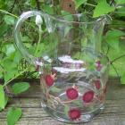 Rose Pod Glass Pitcher