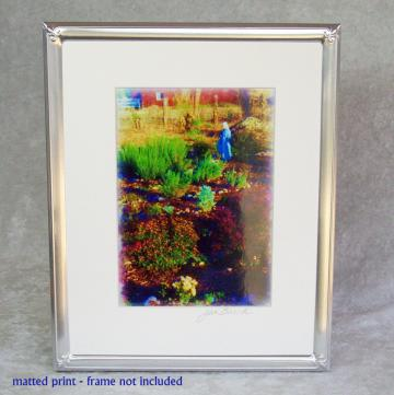 Mother Mary's Garden Photoprint, 5x7 print matted to  8x10 inches overall