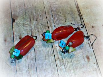 Jolly Rancher - Earring/Pendant Set - Beloved Collection - Edibles Series - OOAK