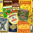 Packet of 5 Vintage Tea Labels