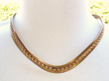 Bohemian Brass Vintage Choker necklace