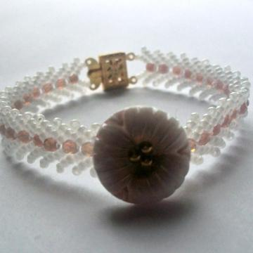 Bracelet with Vintage Button