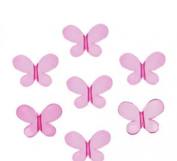 "6 acrylic butterflies 1"" purple"