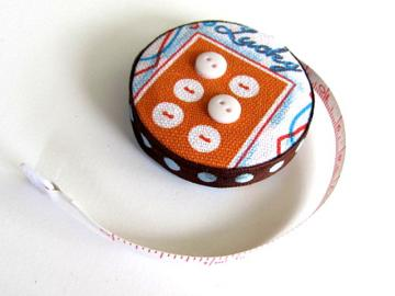 Lucky Buttons Covered Tapemeasure