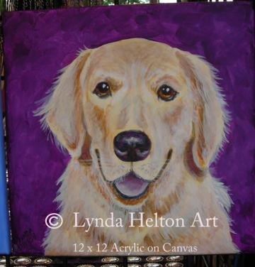 "12"" x 12"" Original Pet Portrait from Your Photos"