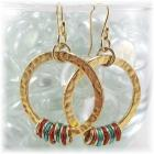 Golden Rings Dangle Earrings