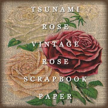"6X6 Vintage Digital Scrapbook Paper- ""Roses"""