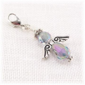 Iridescent Angel Zipper Pull