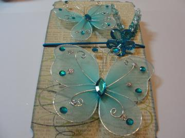 Beautiful Blue Butterfly Ensemble