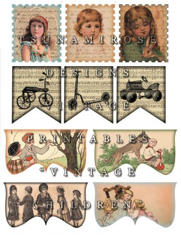 Vintage Children Printable 1