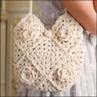 Crocheted Granny Square Handbag/Totebag in Off-White
