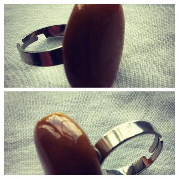 Pretty Amber Adjustable Ring