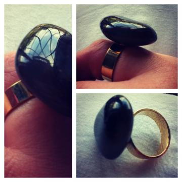 Pretty Black Adjustable Ring