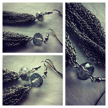 Vintage-style drop earrings