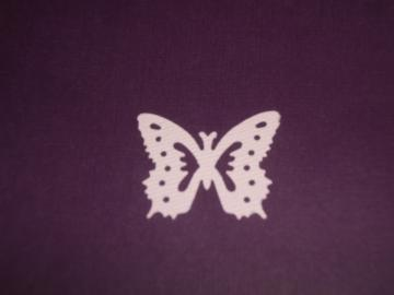 20 Butterfly die cuts baby pink