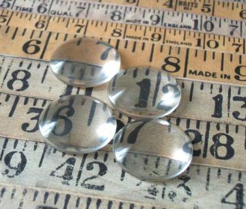 20 pcs 1 inch 25mm Diameter Clear Dome Glass Cabochons, flat back jewels for bottle caps, magnets, keyrings
