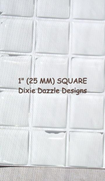 40 1 inch 25 mm SQUARE epoxy stickers, resin drops for magnets, birthday crafts