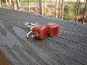 Orange Cubes earrings