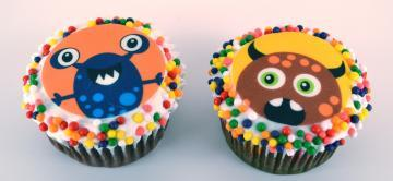 Monsters Edible Image Cupcake Toppers