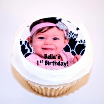 Custom Photo Edible Image Cupcake Toppers