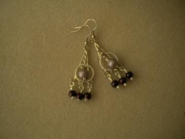 Grape Chandelier Earrings