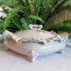 Vintage Pocelain Covered Vanity Trinket Dish