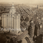 1914 New York City Historic Aerial Rotogravures