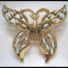 Vintage - Gerry Baby Blue Butterfly Brooch
