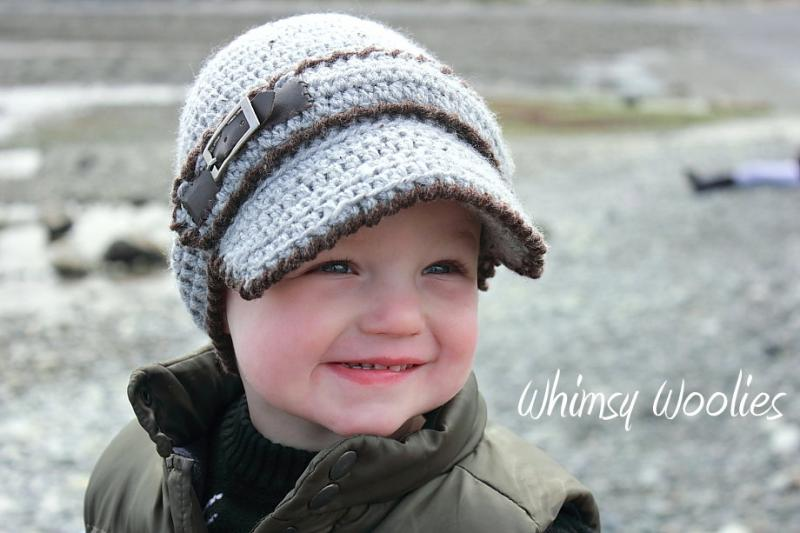 Crochet Baby Boy Visor Hat Pattern : Click to Enlarge Image
