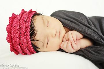 "PDF PATTERN: ""Rose Petal"" Crochet Hat  (Newborn, 3mo, 6mo, 12mo & Toddler)"