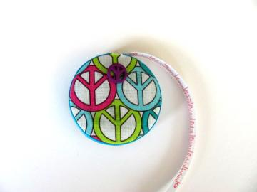 OOAK Tape Measure by All About The Buttons on Zibbet